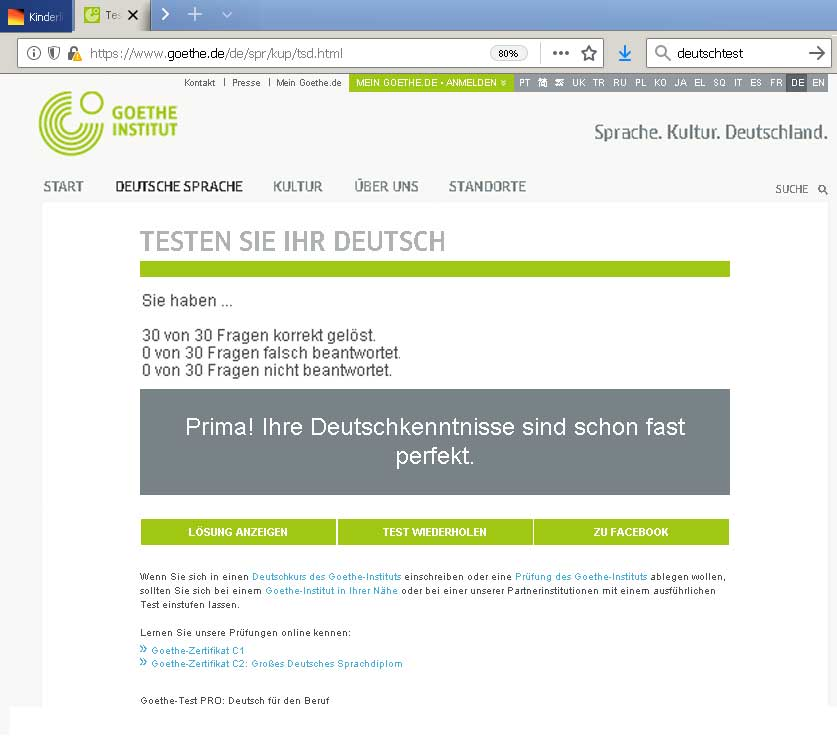 Deutschtest Goethe-Institut