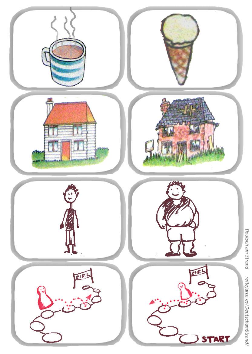 DaF-Lied 'Das ist gross und das ist klein' - Strophe 4 - Bewegungslied für den Deutschunterricht im Vorschul- und Grundschulalter - Bildmaterial