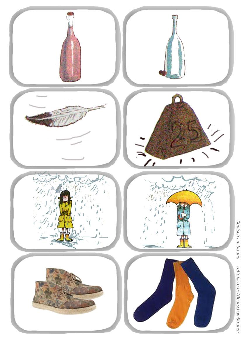DaF-Lied 'Das ist gross und das ist klein' - Strophe 5 - Bewegungslied für den Deutschunterricht im Vorschul- und Grundschulalter - Bildmaterial