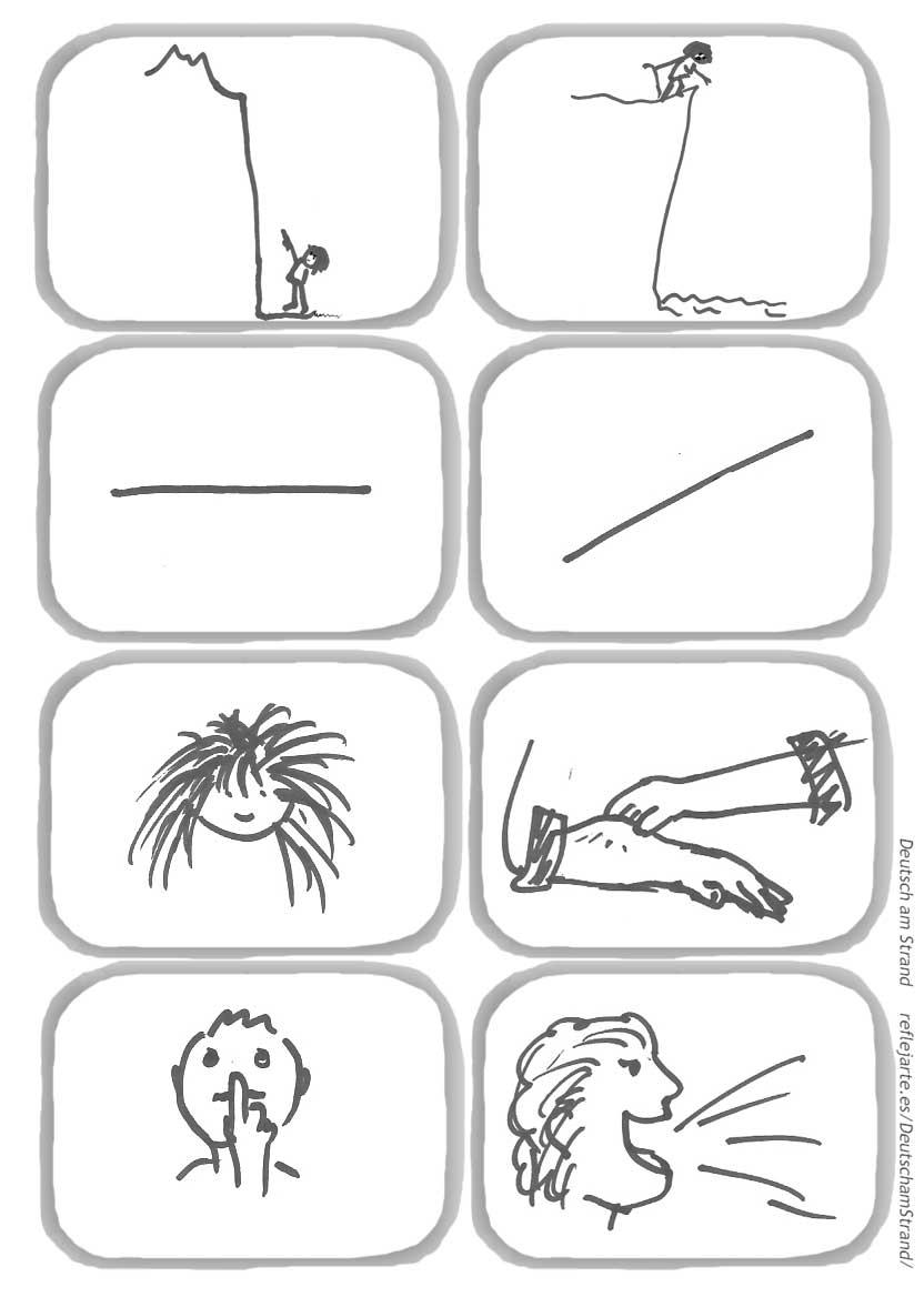 DaF-Lied 'Das ist gross und das ist klein' - Strophe 2 - Bewegungslied für den Deutschunterricht im Vorschul- und Grundschulalter - Bildmaterial