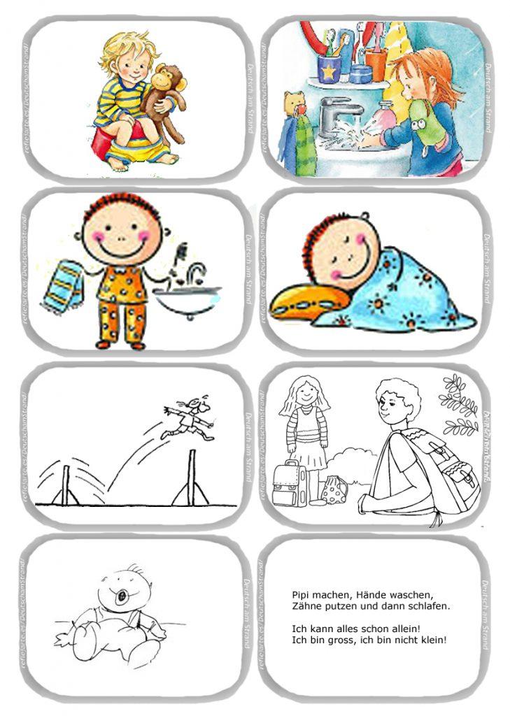 DaF - did. Kinderlied: Ich kann alles schon allein - 2 (Pipi machen, Händewaschen, Zähne putzen, schlafen)