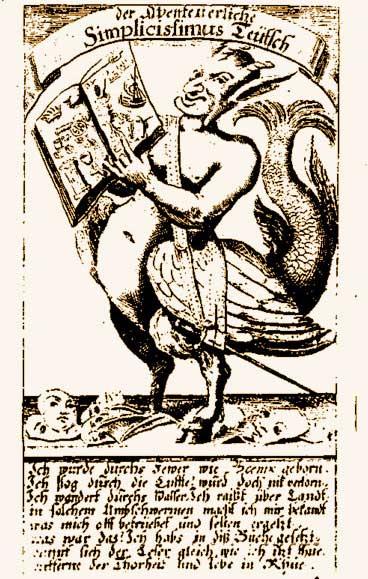 Simplicissimus Teütsch · Schelmenroman von Grimmelshausen, Beispiel deutscher Sprache und Schreibweise von 1669