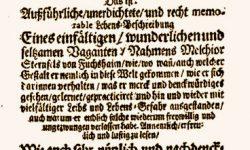 Simplicius Simplicissimus Teütsch · Novela pícara, de Grimmelshausen, como ejemplo de grafía alemana en 1669