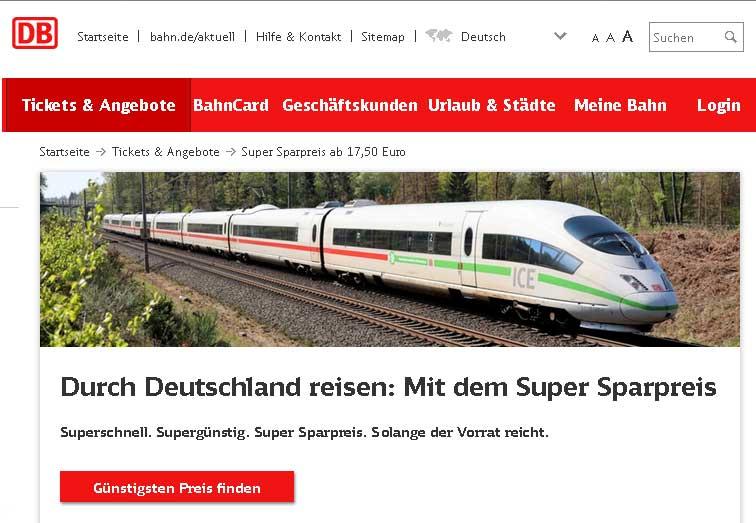 Für 20 Euro durch ganz Deutschland reisen - viajar en tren por toda Alemania por 20 €