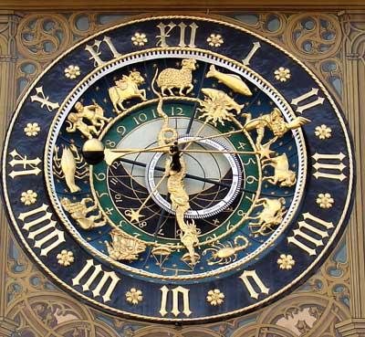 Rathaus Ulm: astronomische Uhr, ca. 1520