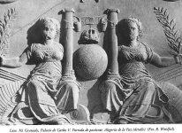 Lám. 10, Granada, Palacio de Carlos V: portada de oriente, detalle Alegoría de la Paz