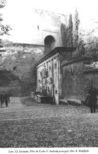 Lám. 12, Granada, Pilar de Carlos V: fachada principal