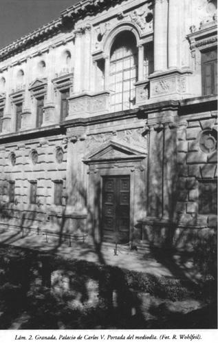 Lám. 2, Granada, Palacio de Carlos V: Portada del mediodía