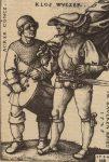 1544 gestochener Kupferstich ACKER CONCZ. KLOS WVCZER. IM BAVERN KRIEG 1525 von Sebald Beham