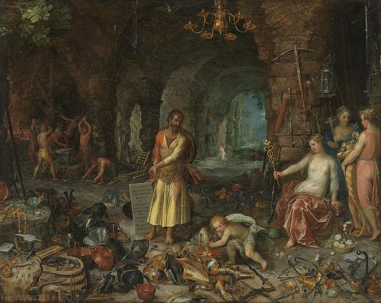 Jan Brueghel d.Ä. (1568–1625) & Hendrick van Baien d.Ä. (1573–1632): Weissagung des Propheten Jesaias (Alte Pinakothek, München)