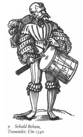 Landsknecht: Trommler von Sebald Beham, um 1540