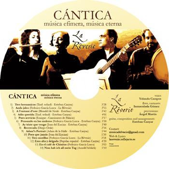 cd CÁNTICA :: LA RÊVERIE