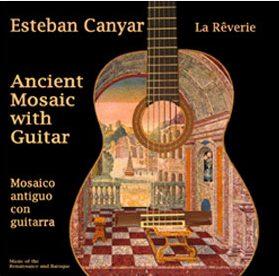 Ancient Mosaic with Guitar by Esteban Canyar & Palmira Irisarri - La Rêverie
