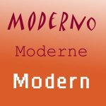 Moderno · Moderne