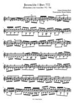 Bach Invenciones nº1, 4, 7 - BWV 772, 775, 778 - guitar-repertoire.com