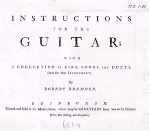 Bremner, Robert: Instructions for the guitar @ guitar-repertoire.com