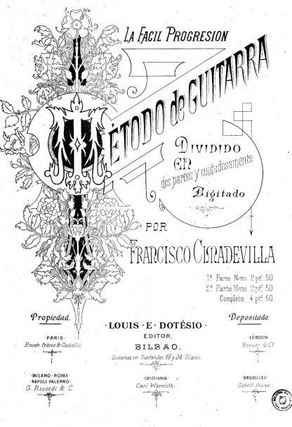 Francisco Cimadevilla: Método de guitarra. La fácil progresión.