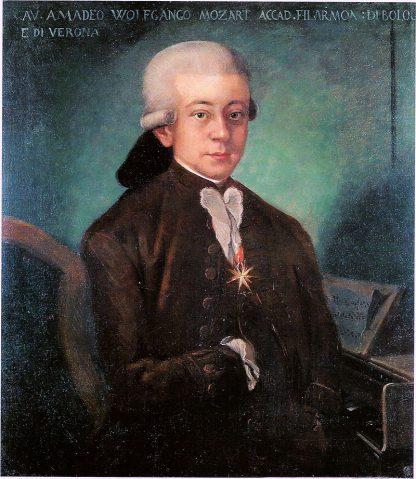 Wolfgang Amadeo Mozart con 21 años - 1777