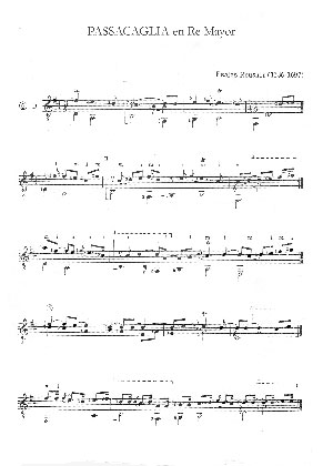 Esaias Reusner (1636-1697) Passacaglia Re Mayor @ guitar-repertoire.com
