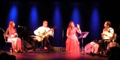 Composición de M. Esteban sobre el poema BAILE de Lorca: actuación de Cántica Cuarteto en el Rey Chico de Granada, 2018