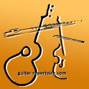 flauta + viola + guitarra · flûte + viole + guitare · flute + viola + guitar · Flöte + Bratsche + Gitarre