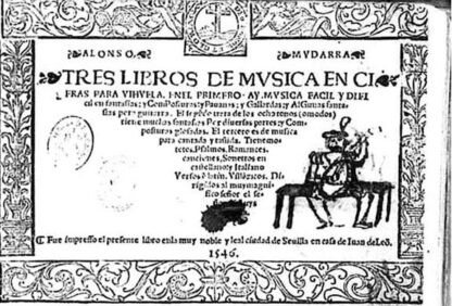 Alonso Mudarra - Tres libros de música en cifra para vihuela