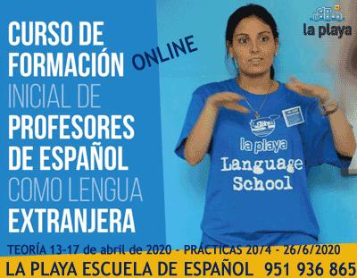 Cursos de formación para profesores ELE 2020 · LA PLAYA ESCUELA DE ESPAÑOL